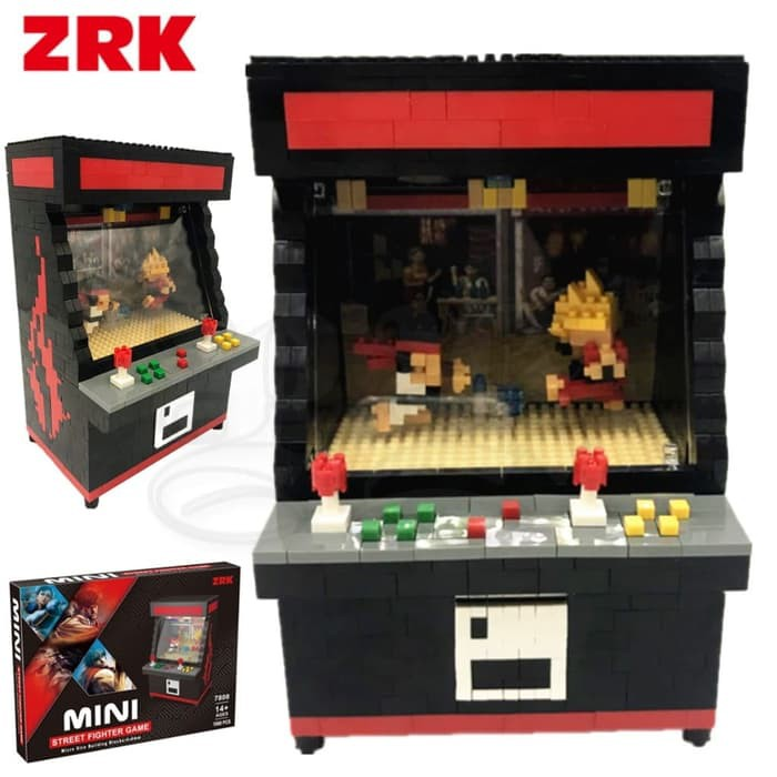 Arcade Game Street Fighter Ryu Ken Mesin Ding Dong Lego Zrk 7808
