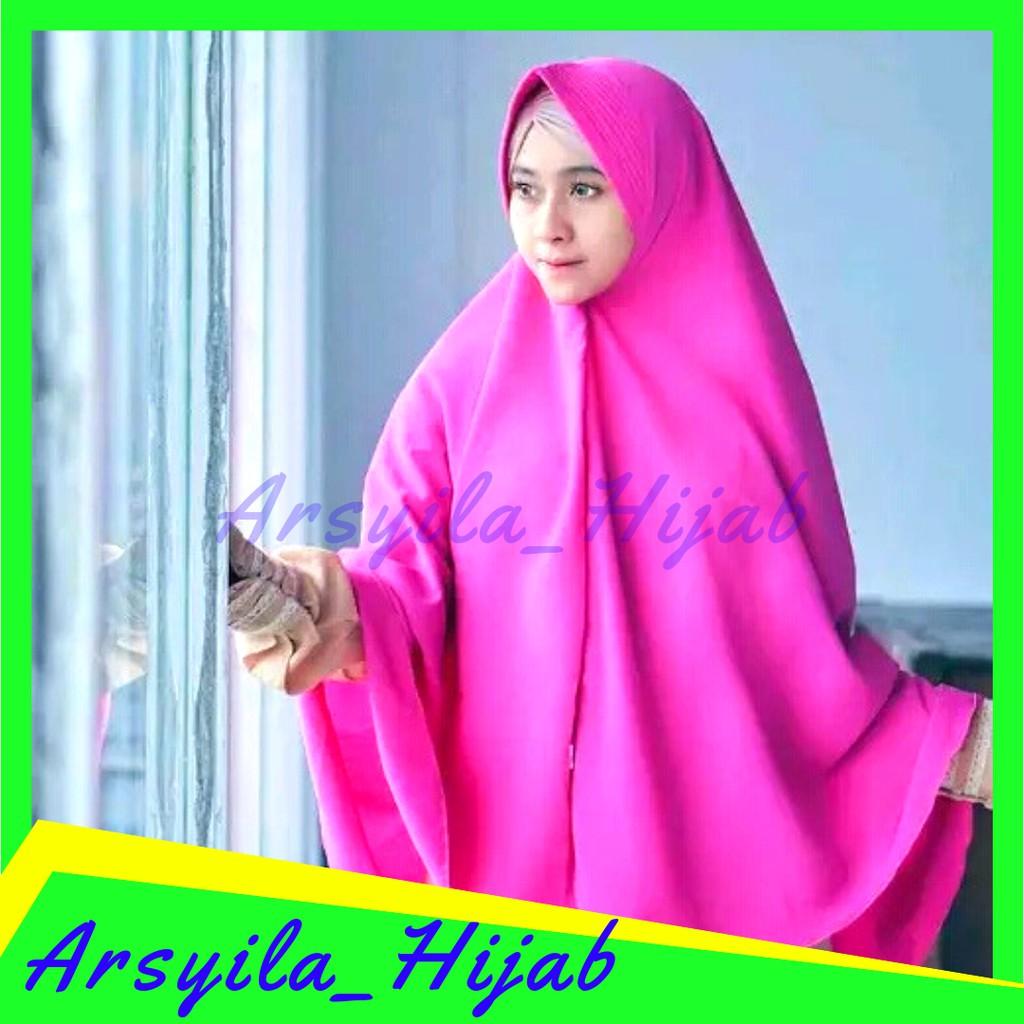Beli Promo Hijab Khimar Jumbo Pet Antem 125x125 Wolfis Bergo Instan Jilbab Kerudung Best Seller