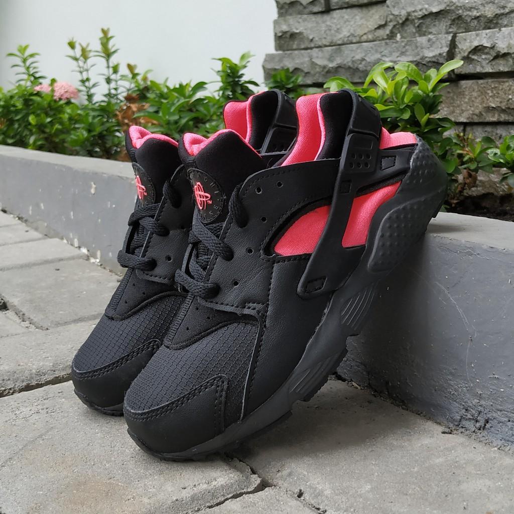 Nike Kids Huarache Run Black Pink Original 100%