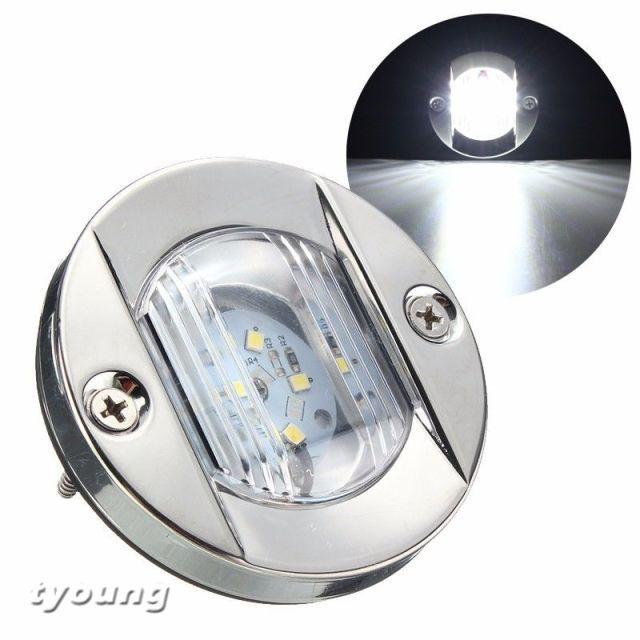 Marine LED Transom Light Boat Stern Light 12V Stainless Steel Flush Mount Light
