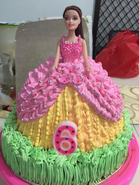 Kue ulang tahun barbie princess