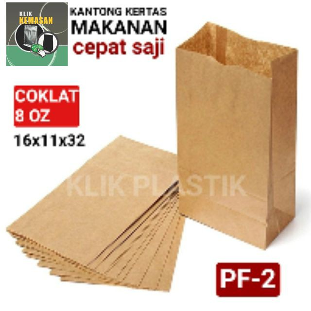 GROSIR PAPER BAG KFC PUTIH POLOS BURGER DONAT PAPERBAG FRIED CHICKEN | Shopee Indonesia