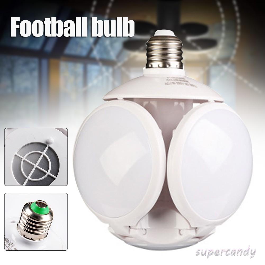 Led Garage Lights Folding Football Bulbs Deformable Night Light Ceiling Lamp With 4 Adjustable Panels Shopee Indonesia