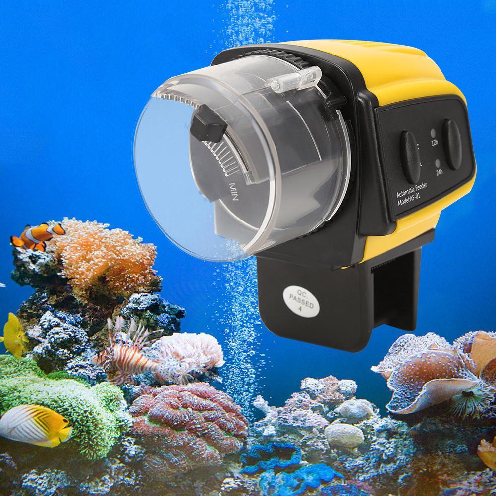 1pc Alat Pemberi Makan Ikan Elektrik Otomatis Bahan Plastik
