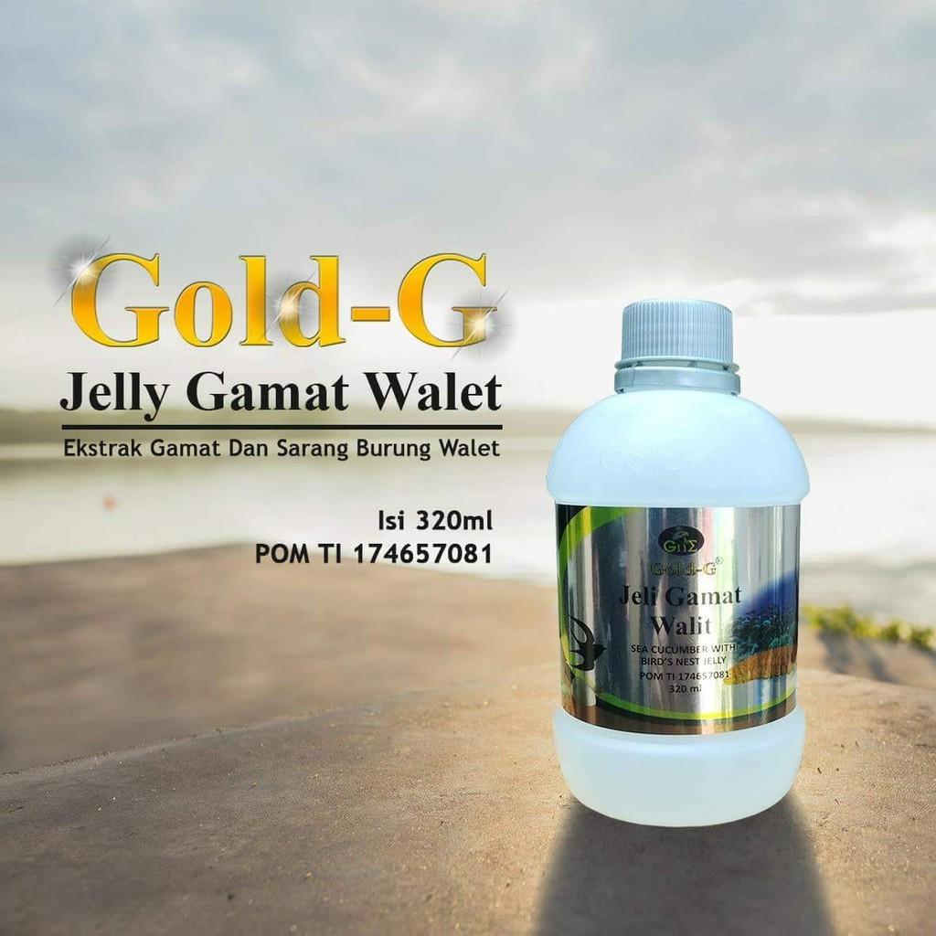 Jelly Jely Jeli Gamat Gold G Walit Ekstrak Sarang Burung Walet Asli 320 Ml Shopee Indonesia