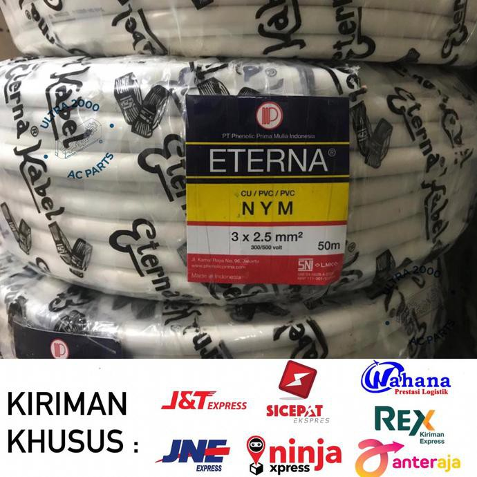 Produk Terbaru Kabel Nym Eterna 3 X 2,5 50M/Eterna Cable 3X2.5/Nym Eterna 3X2.5