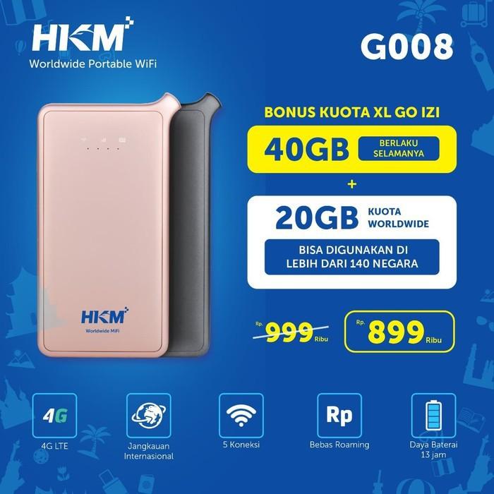 HKM G008 4G 40GB XL Modem Mifi Portable Hotspot Wifi
