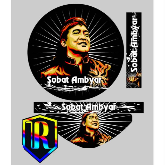 Sticker Tebok Stiker Decal Sobat Ambyar Shopee Indonesia