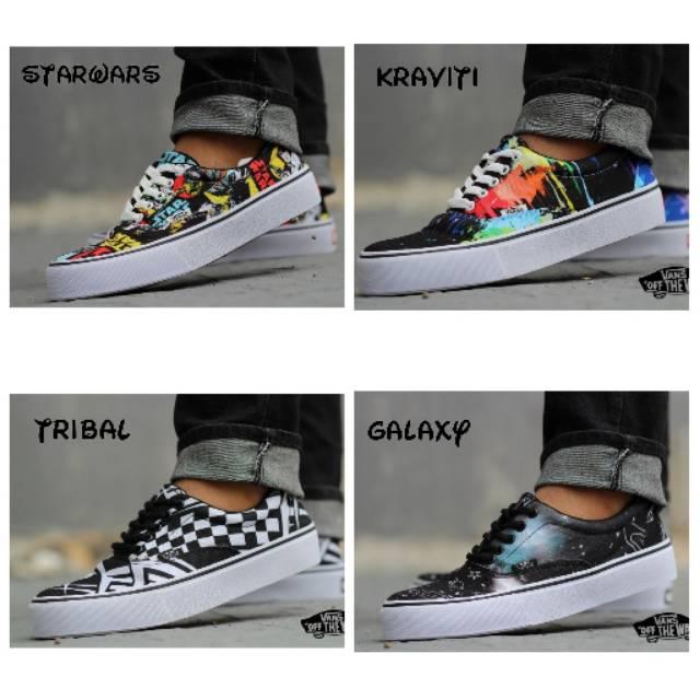 Sepatu Pria Vans oldskool Logo Vans Black White premium BNIB IMPORT made in  china kualitas TERJAMIN  9e68725651