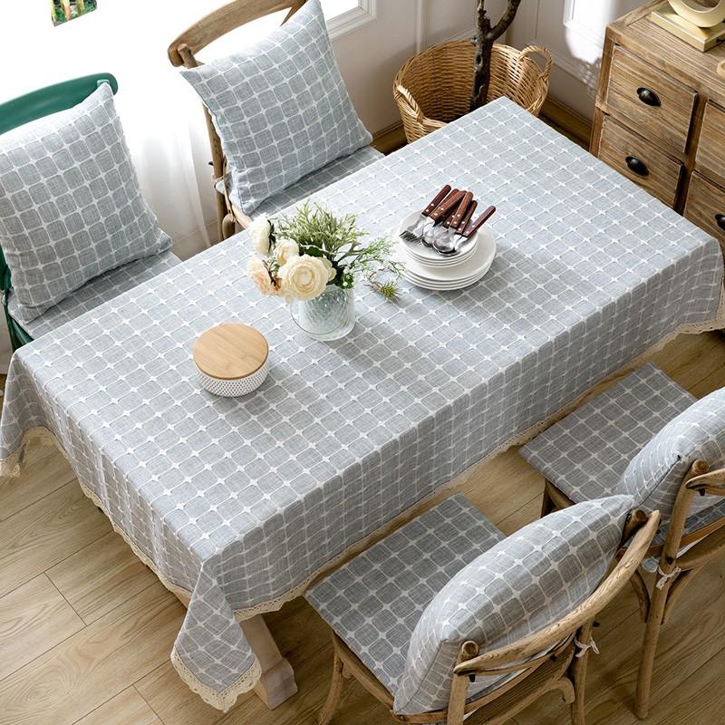Linen Lattice Rectangular Tablecloth