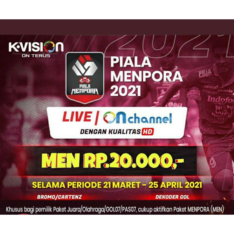 Voucher K-Vision Dan GOL Paket Piala Menpora