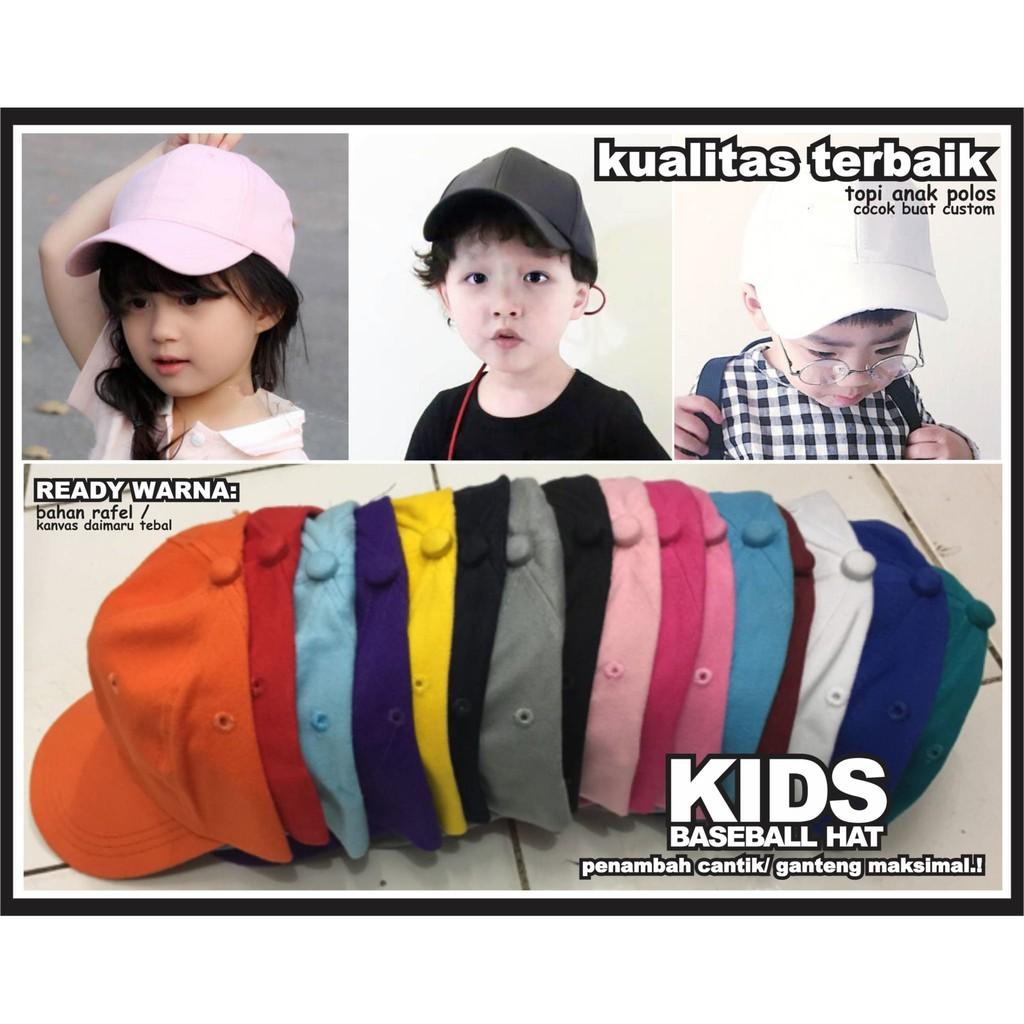 topi anak bayi balita snapback trucker baseball kids polos original ... d5c81b6b3a