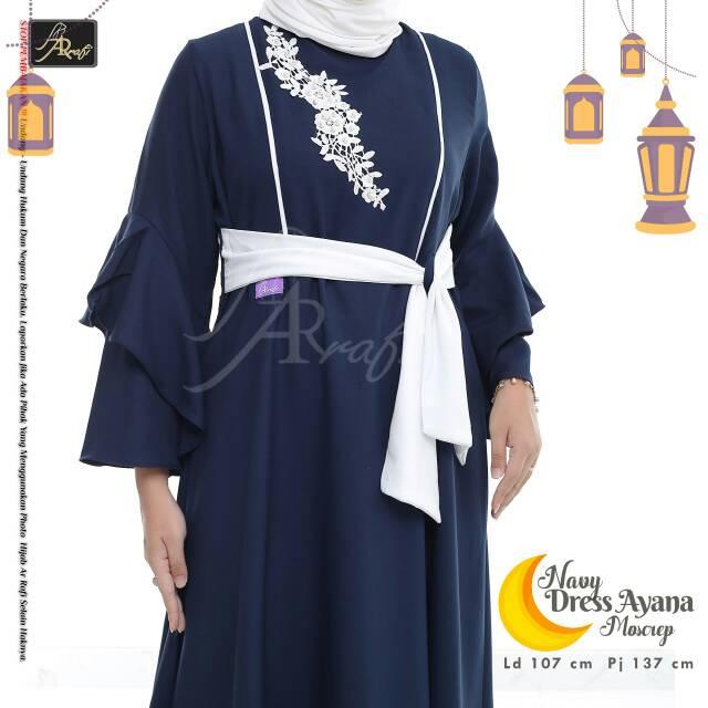 Gamis Arrafi Gamis Cantik Gamis Terbaru Dress Ayana Shopee Indonesia