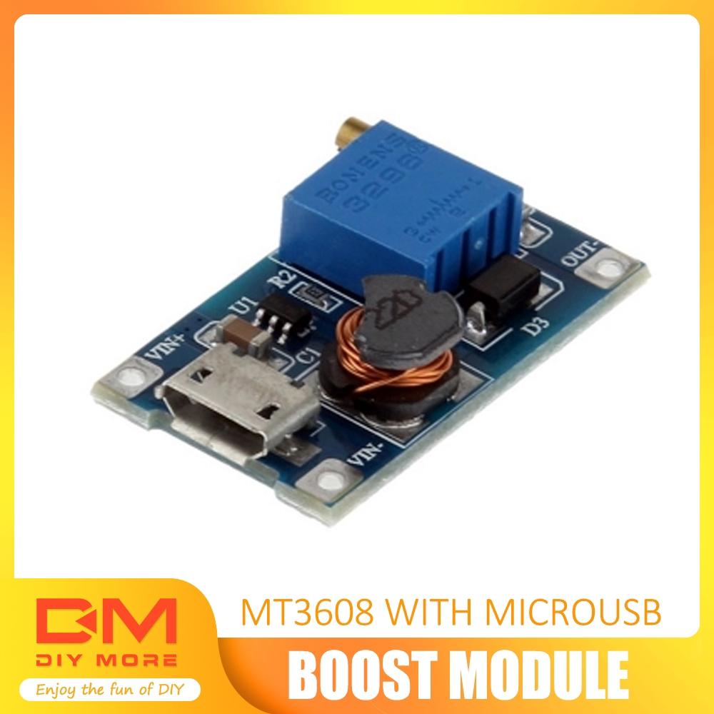 DC Boost Adjustable Step Up Voltage Converter Module Micro USB 2A 5v 9v 12v 24v