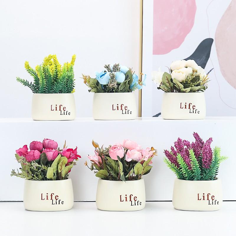 Plastik Segar Kecil Dimasukkan Bunga Sutra Dekorasi Bunga Buatan Bunga Palsu Dekorasi Buket Ruang Tamu Dalam Ruangan Meja Makan Pot Dekorasi Shopee Indonesia