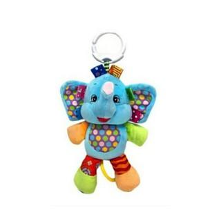 Jollybaby - Mainan Boneka Tarik Musik Bayi - Elephant Blue | Shopee Indonesia