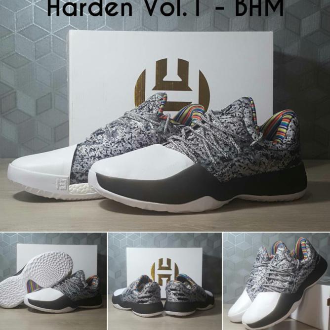 1ff3389ad95 EXCLUSIVE sepatu basket adidas harden vol 1 bhm abu white TERMURAH ...