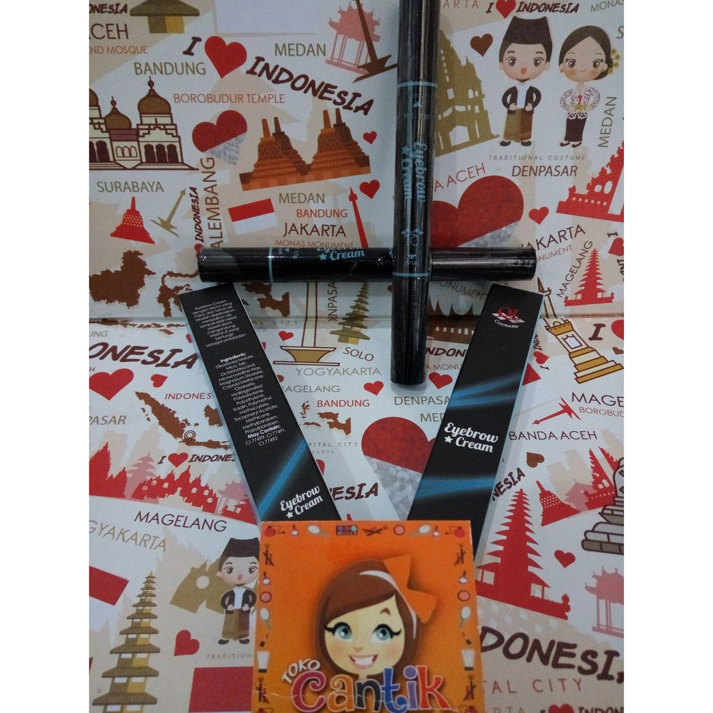 Ql Eyebrow Cream Coklat Shopee Indonesia 15gr