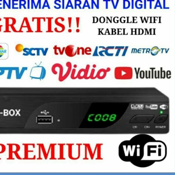 EZ-BOX SET TOP BOX DVB-T2 PENERIMA SIARAN TELEVISI DIGITAL - Free Dongle