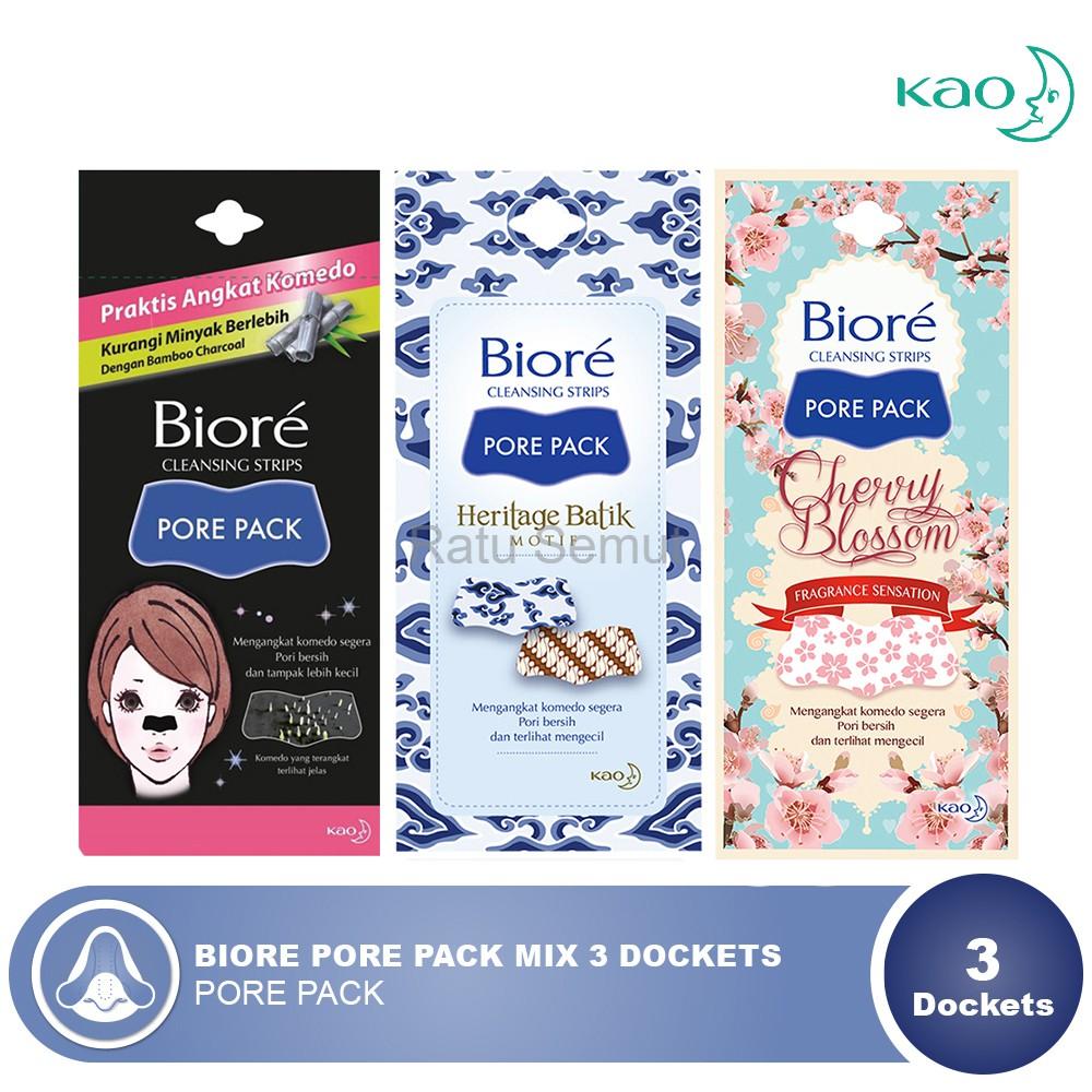 Biore Cleansing Strips Porepack Black 4 Lembar Beli 2 Gratis 1 Berrygloss  Original Terlaris Pore Pack