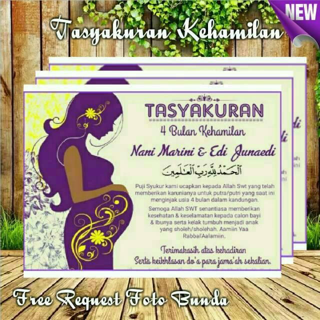 Termurah Stiker Tasyakuran Ibu Hamil 4 7 Bulanan Free Request Judul Acara Shopee Indonesia