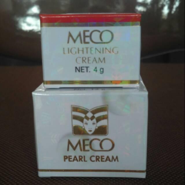 Meco Pearl Cream Perawatan Kulit / Wajah / Pemutih /Meco Lightening Cream Meco Malam | Shopee Indonesia