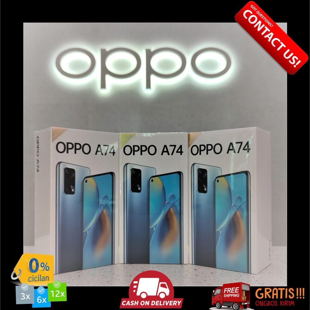 OPPO A74 4G / 5G RAM 6GB MEMORY 128GB HP COD GARANSI RESMI OPPO / OPPO GALLERY PLAZA INDONESIA