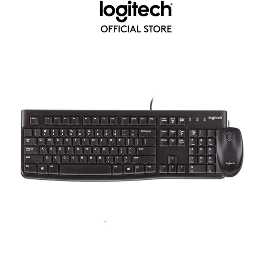 Desktop USB Keyboard and Mouse Logitech Black