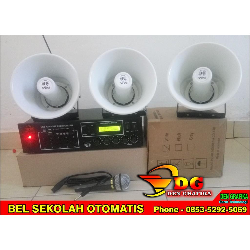 Bel Sekolah Otomatis Manual 250 Nada Shopee Indonesia