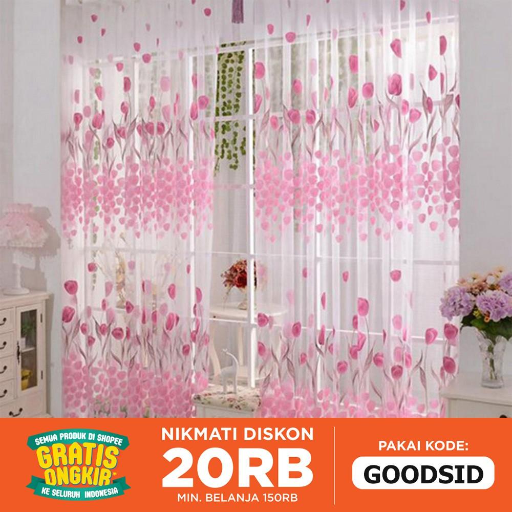 Tirai Magnet Elegan Merah Bordir Daun Shopee Indonesia Lotus X Exclusive Pink Hello Kitty Pintu Anti Nyamuk