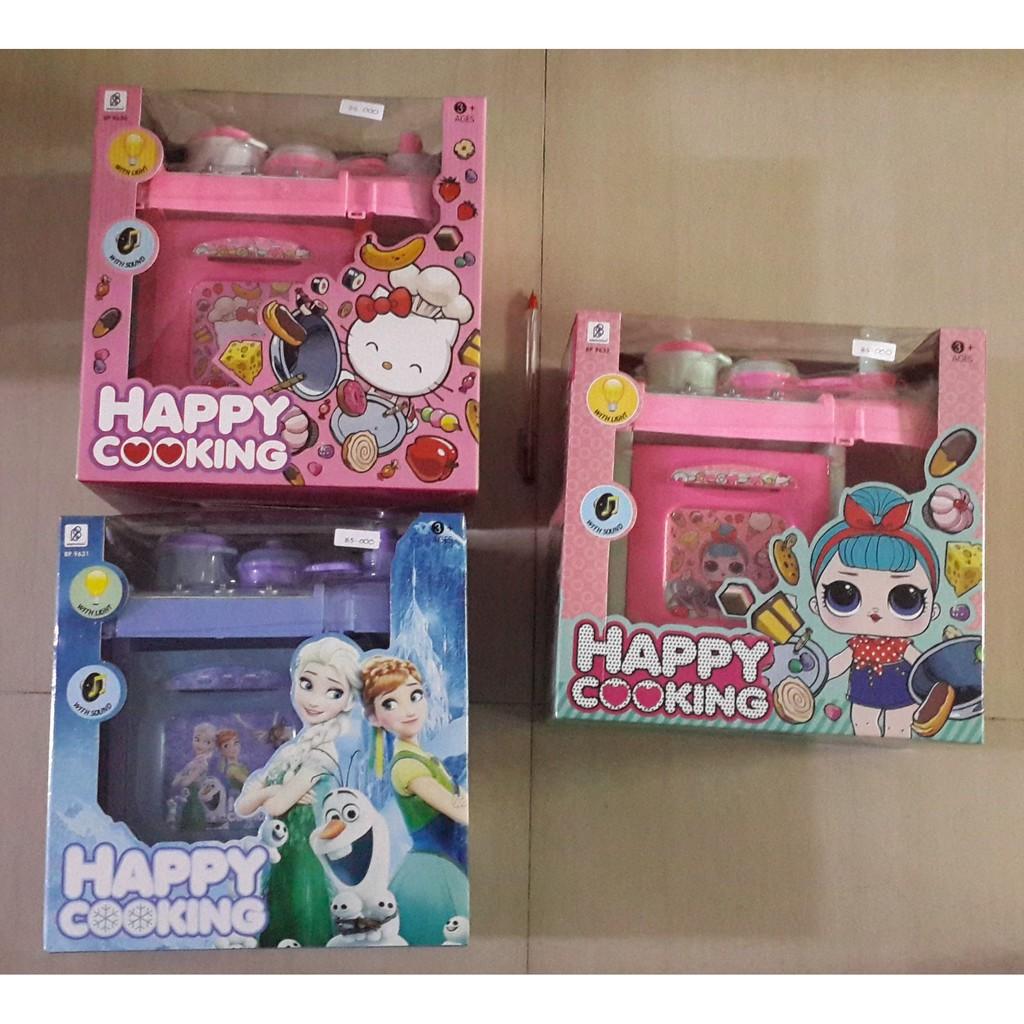 Mainan Masak Happy Cooking Hello Kitty Frozen Lol Shopee Indonesia