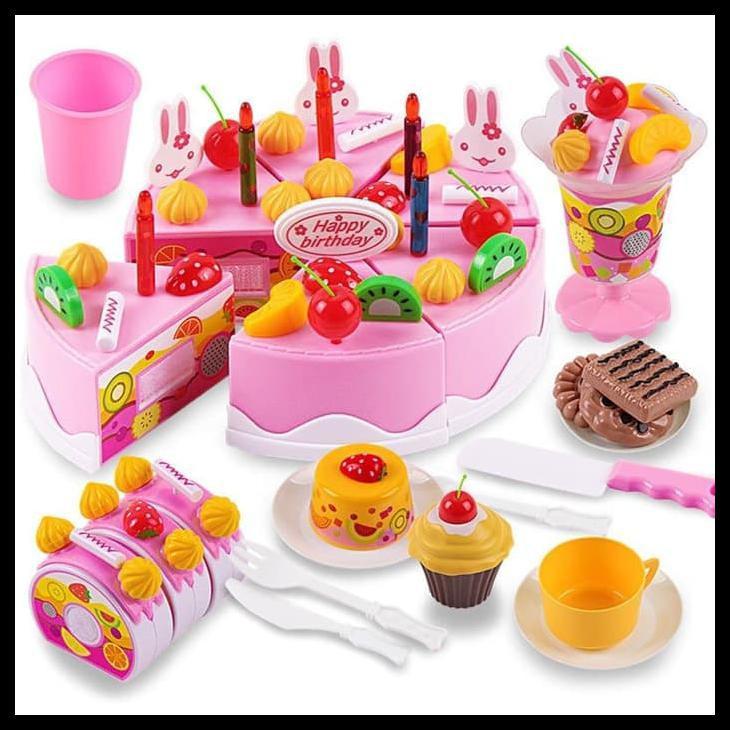 Mainan Edukasi Anak Perempuan Bayi Laki Menghias Kue Ulang Tahun Murah Pink Shopee Indonesia