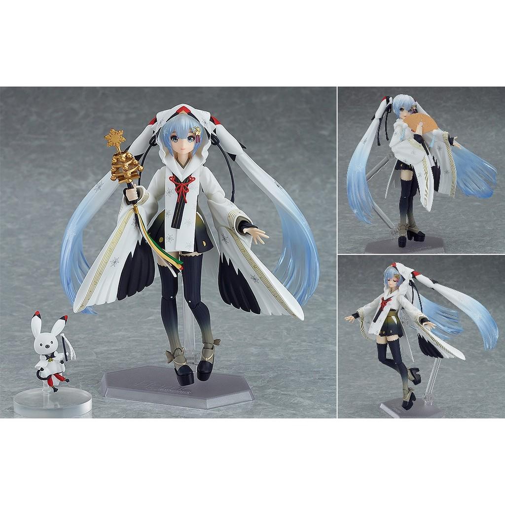 Figma EX-045 SNOW MIKU Crane Priestess Ver PVC Action Figure New No Box