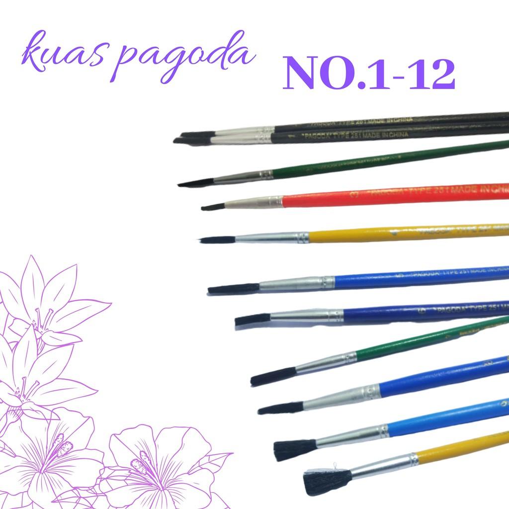 Kuas Lukis Pagoda Hitam Water Colour Painting Brushes Pagoda No 1 12