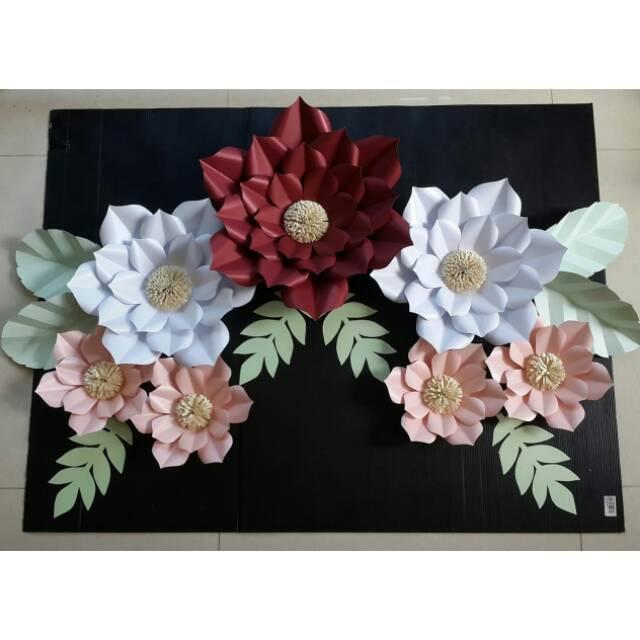 Pappee Flower Kertas Bunga Hiasan Dinding Hiasan Tembok Shopee Indonesia
