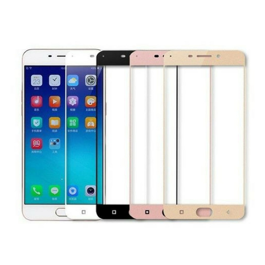 Full Cover Tempered Glass Warna For Xiaomi Oppo Iphone Samsung Vivo New Itemtempered Fullwarna Redmi Note 4x Gold Asus Nokia Infinix All Type Shopee Indonesia