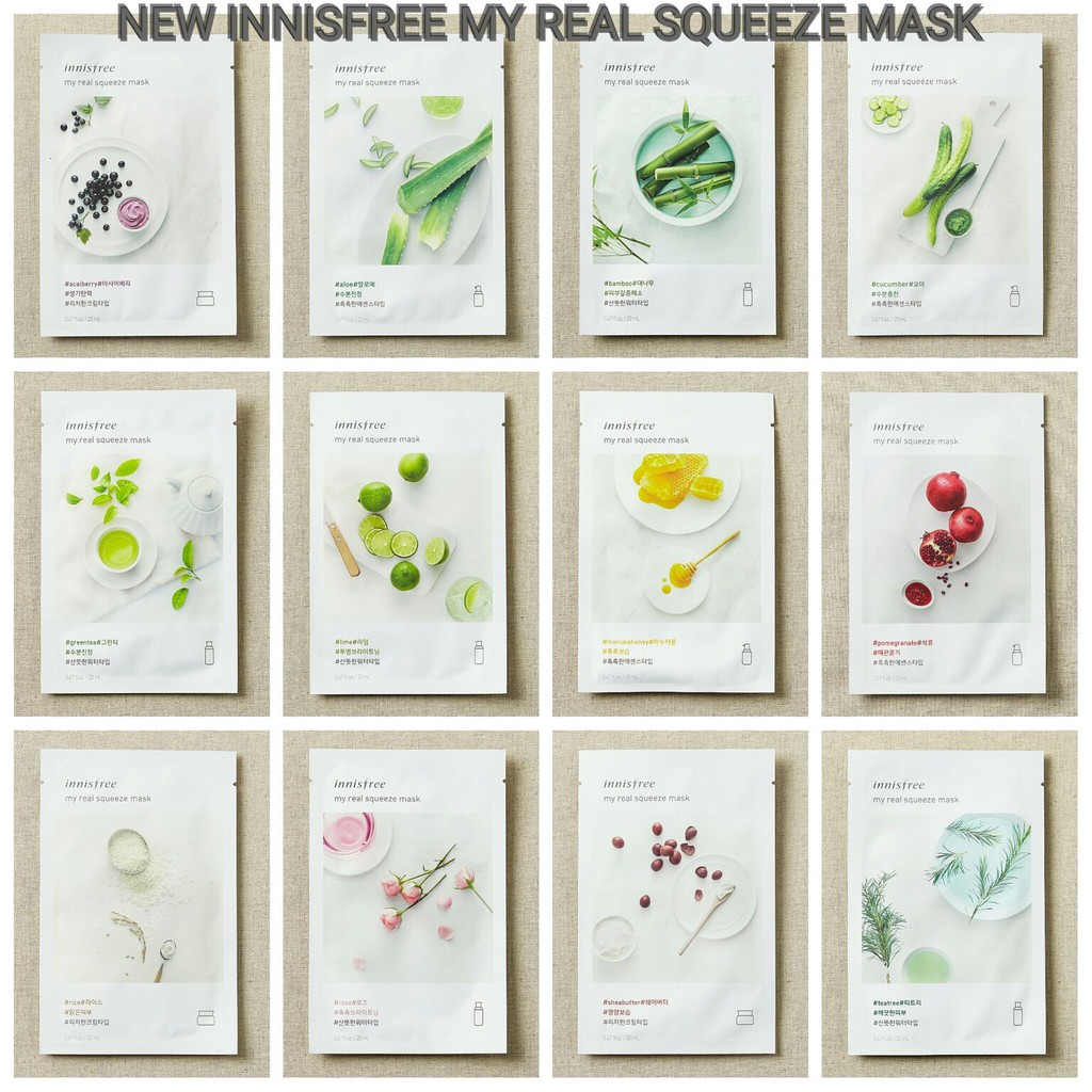 The Face Shop Real Nature Mask Sheet New Design Packaging Shopee Innisfree Its Squeeze Masker Wajah Indonesia