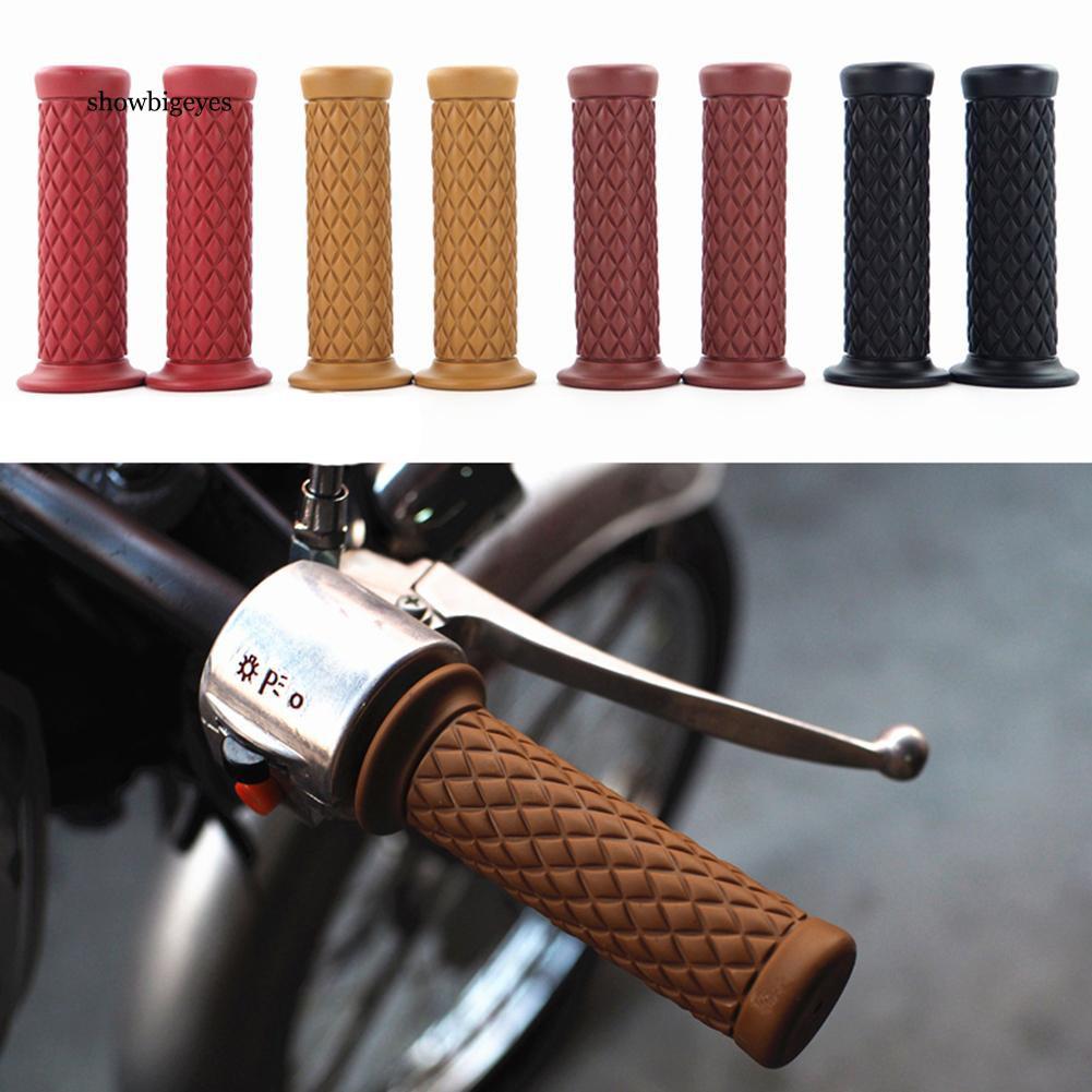 GSXR Motorbike Handlebar Grips Non-Slip Rubber Bicycle Handle Grips for SUZUKI GSXR GSX R 125 150 600 750 1000-red