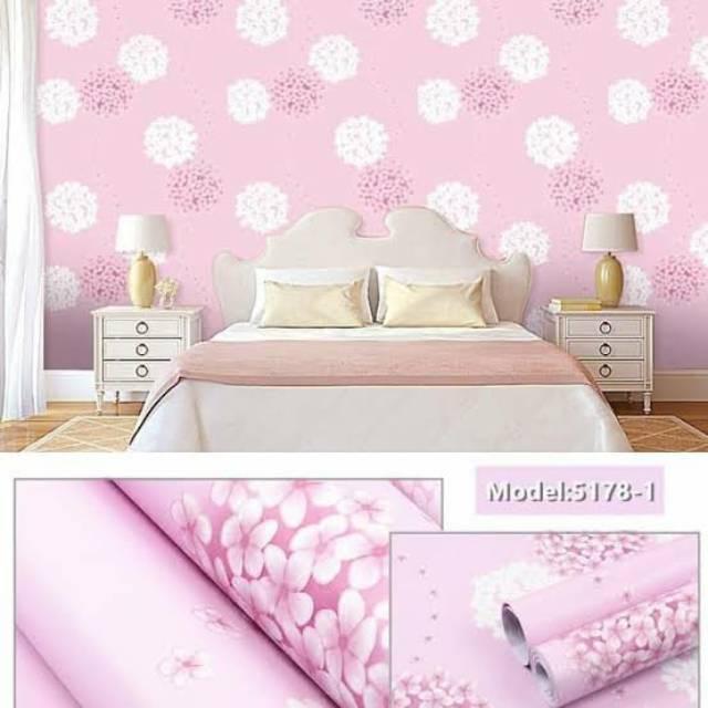 Wallpaper Dinding Murah Ruang Tamu Kamar Bunga Dandelion Pink Terbagus Terlaris Elegan Minimalis Shopee Indonesia