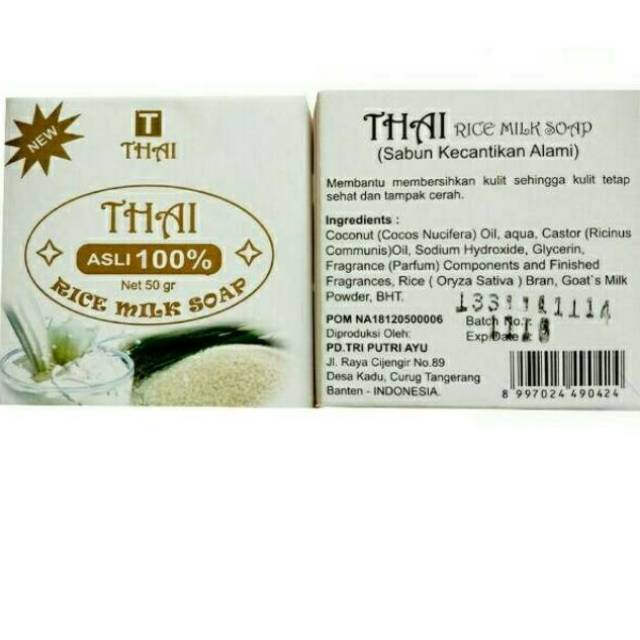 Sabun Susu Beras Sabun Thai Rice Milk Soap Bpom Sabun Kecantikan Thai Rice Milk Shopee Indonesia
