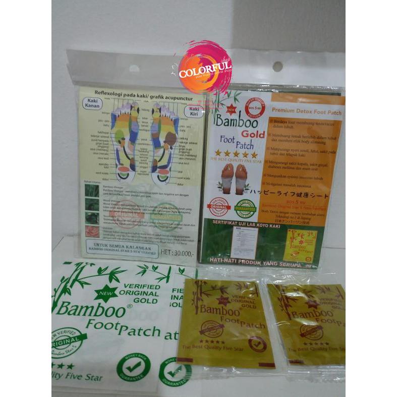 Koyo Kaki Bamboo Bamboo Foot Patch Gold Premium Detox Foot Patch | Shopee Indonesia
