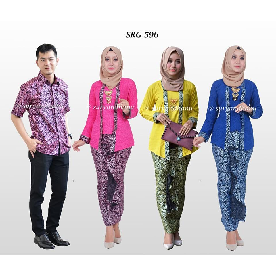 Sarimbit Setelan Batik Couple SRG 585  588dcc3deb
