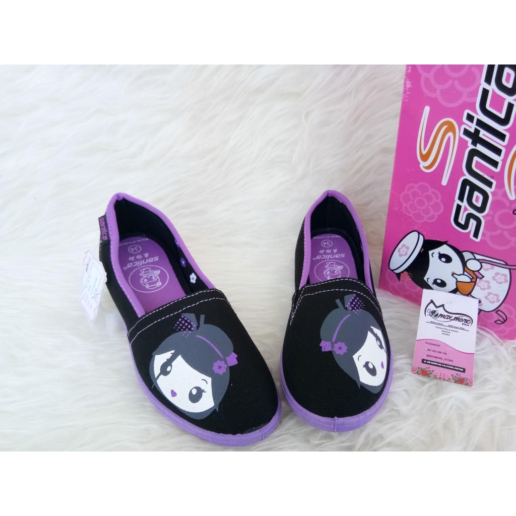 Sepatu Anak Cewek Perempuan Hitam Pantofel Sekolah Santica Pink Original By Michiko Kets Ayaka Black Flat Shoes Girl Shopee Indonesia