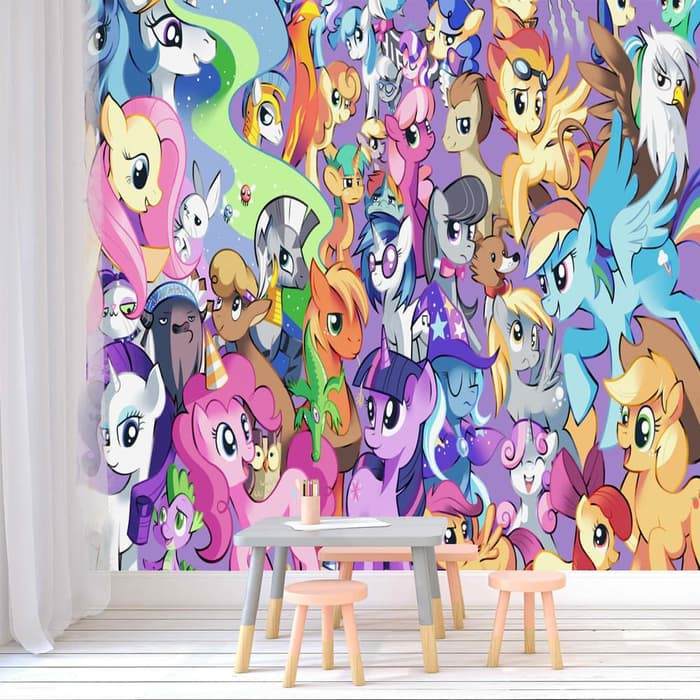 Wallpaper Dinding My Little Pony Custom Shopee Indonesia