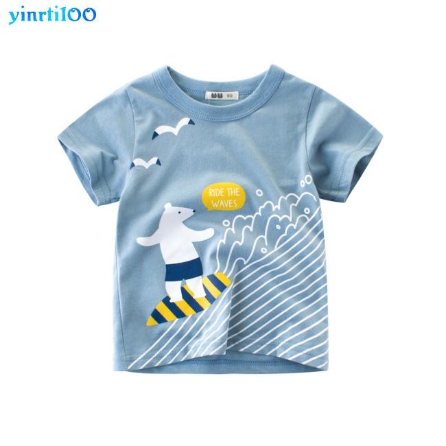 Kaos T Shirt Casual Laki Laki Lengan Pendek Gambar Kartun Lucu