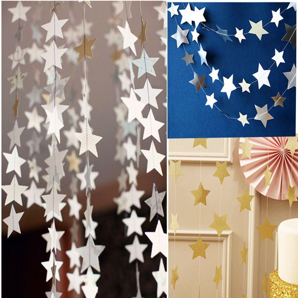 Kertas Gantung Model Bintang untuk Dekorasi Pesta Pernikahan
