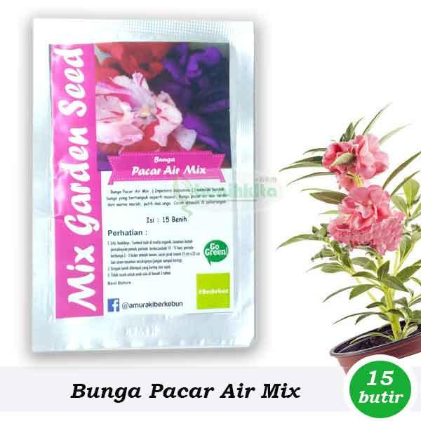 Benih Bibit Bunga Pacar Air Mix Garden Shopee Indonesia