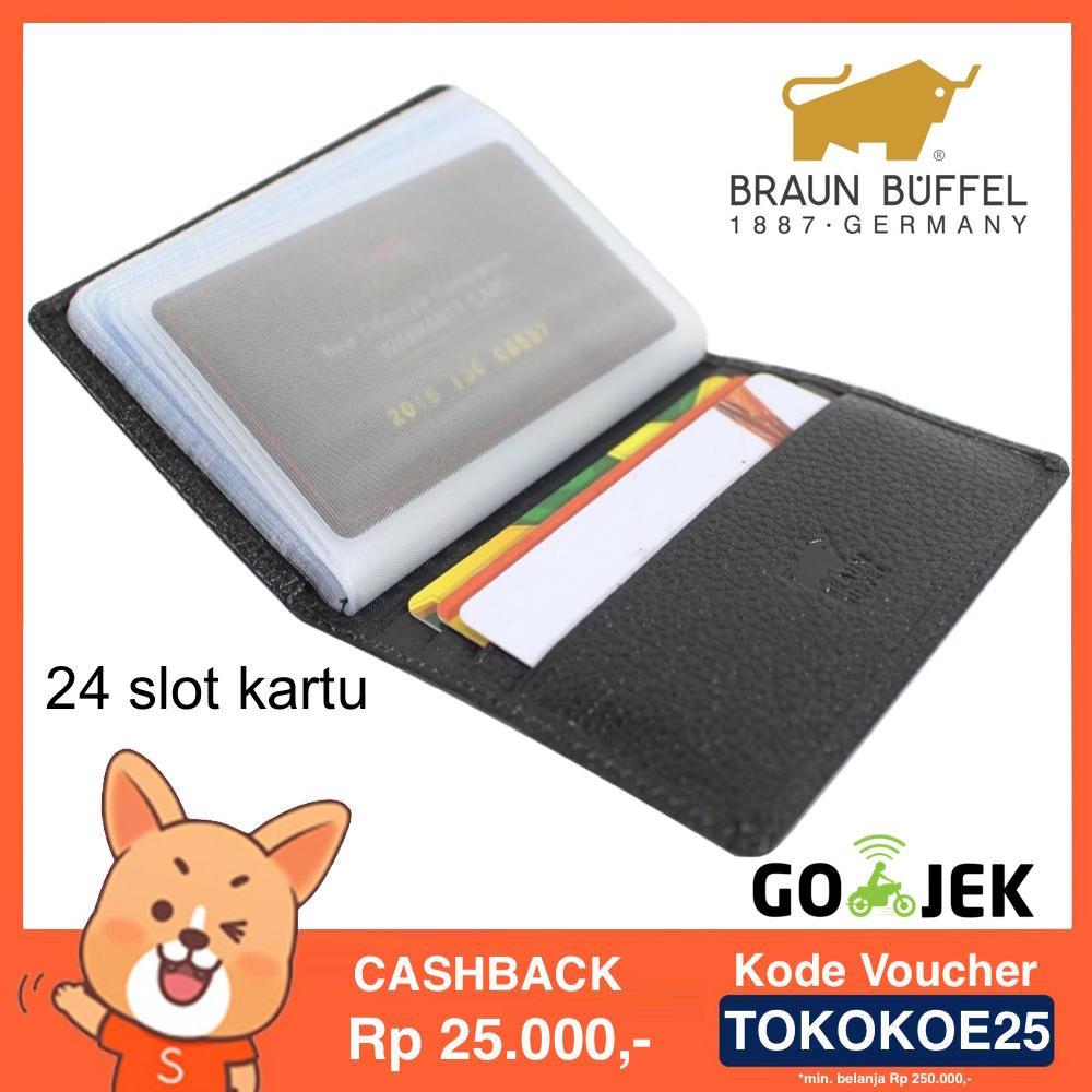 Dompet Kartu Card Holder Kulit Asli Import Branded Braun Buffel Panjang Baellerry 22 Slot Cc02 Shopee Indonesia