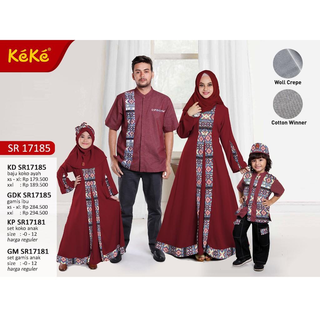 SR17184 KEKE(0-7 tahun) baju muslim Sarimbit/seragam couple keluarga | Shopee Indonesia
