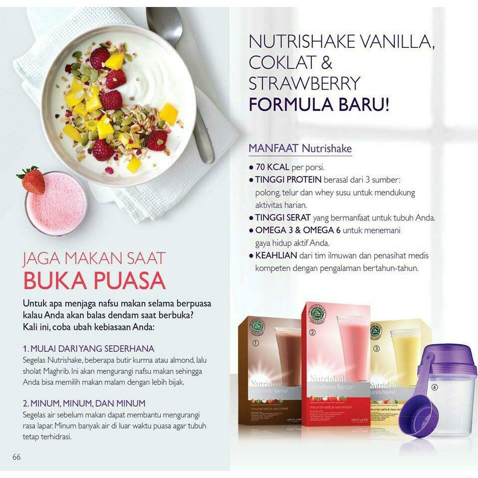 Nutrishake Oriflame (ORIGINAL) / Untuk Menurunkan Berat Badan / Minuman  Nutrisi / Menu Puasa